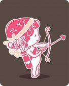 little cupid preparing to shoot his arrow