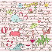 summer doodle set