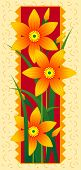 Vector card with orange flowers