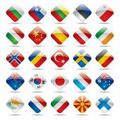 Raster version of vector set world flag icons 2