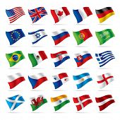 stock photo of flags world  - Vector set of world flags 1 - JPG