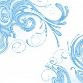 Raster version of vector background of water