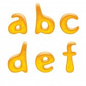 Vector image of alphabet small letter