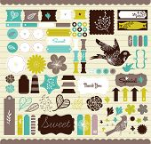Girly Design-Elemente für scrapbooking