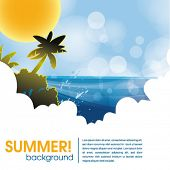 summer holiday web and print template - tropical island