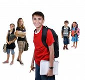 image of school child  - Young kids are ready for school - JPG