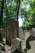 Old Jewish Cemetary In Prague, Czech Republic