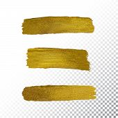 Vector Gold Paint Smear Stroke Stain poster