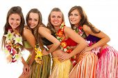 Beautiful hawaiian Hula Dancer Girls