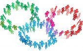 People join as social network circles or business groups or organizations merge
