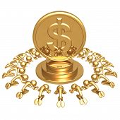 Dollar Gold Coin Worship