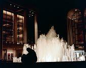 Silhouette & Fountain: Night