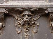 image of hobgoblin  - Devil on the gate Pruhonice Castle Czech Republic - JPG