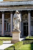 Statue Of St. Paul In Front Of San Paolo Fuori Le Mura, Rome