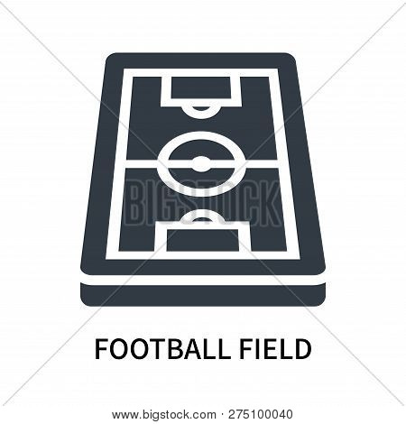 Football Field Icon Isolated On