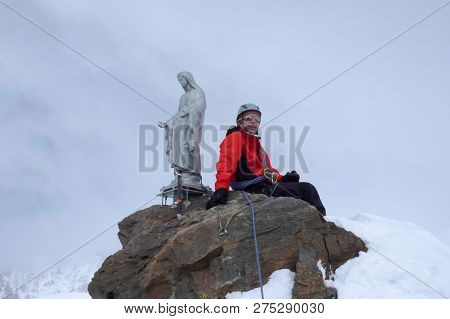 Backcountry Skier And Mountain Climber