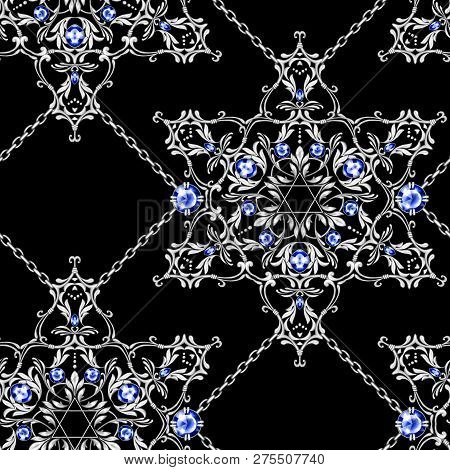 Jewelry Background Seamless Pattern With