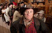Rugged Cowboy In A Saloon