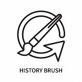 History Brush Icon Isolated On White Background. History Brush Icon Simple Sign. History Brush Icon  poster