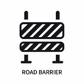 Road Barrier Icon Isolated On White Background. Road Barrier Icon Simple Sign. Road Barrier Icon Tre poster