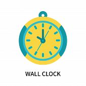 Wall Clock Icon Isolated On White Background. Wall Clock Icon Simple Sign. Wall Clock Icon Trendy An poster