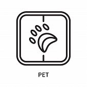 Pet Icon Isolated On White Background. Pet Icon Simple Sign. Pet Icon Trendy And Modern Symbol For G poster