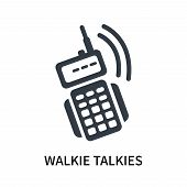 Walkie Talkies Icon Isolated On White Background. Walkie Talkies Icon Simple Sign. Walkie Talkies Ic poster