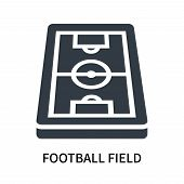 Football Field Icon Isolated On White Background. Football Field Icon Simple Sign. Football Field Ic poster