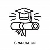 Graduation Icon Isolated On White Background. Graduation Icon Simple Sign. Graduation Icon Trendy An poster