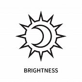 Brightness Icon Isolated On White Background. Brightness Icon Simple Sign. Brightness Icon Trendy An poster