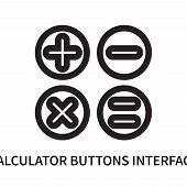 Calculator Buttons Interface Icon Isolated On White Background. Calculator Buttons Interface Icon Si poster