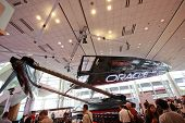 San Francisco, Ca, Oct 4, 2011 - Full-size 45-foot Oracle Racing Carbon-fiber Catamaran And Wing Sai