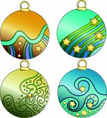 Colorful vector bauble collection