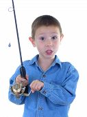 Boy With A Fishing Rod Two