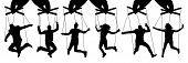 Hand Puppeteer. Manipulation Of People, Puppets. The Owner Controls The Subordinates. Isolated Set O poster