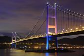 picture of tsing ma bridge  - Tsing Ma Bridge in Hong Kong - JPG