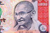 Gandhi on 1000 rupee note