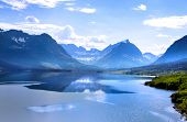 Beautiful Saint Mary Lake in Glacier national park poster