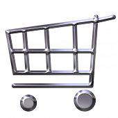 Silver Shopping Cart