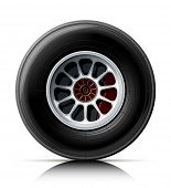 sports car wheel vector illustration isolated on white background