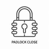 Padlock Close Icon Isolated On White Background. Padlock Close Icon Simple Sign. Padlock Close Icon  poster