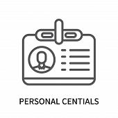 Personal Centials Icon Isolated On White Background. Personal Centials Icon Simple Sign. Personal Ce poster