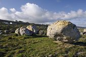 stock photo of errat  - Limestone Glacial Erratic Boulder Field Fanore Co - JPG