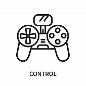 Control Icon Isolated On White Background. Control Icon Simple Sign. Control Icon Trendy And Modern  poster