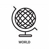 World Icon Isolated On White Background. World Icon Simple Sign. World Icon Trendy And Modern Symbol poster