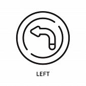 Left Icon Isolated On White Background. Left Icon Simple Sign. Left Icon Trendy And Modern Symbol Fo poster