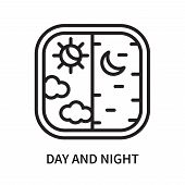 Day And Night Icon Isolated On White Background. Day And Night Icon Simple Sign. Day And Night Icon  poster