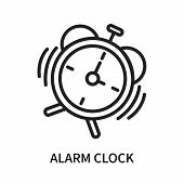 Alarm Clock Icon Isolated On White Background. Alarm Clock Icon Simple Sign. Alarm Clock Icon Trendy poster