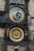 stock photo of mikulas  - detail of the famous astronomical clock on town square Prague - JPG