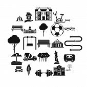 Borough Icons Set. Simple Set Of 25 Borough Vector Icons For Web Isolated On White Background poster